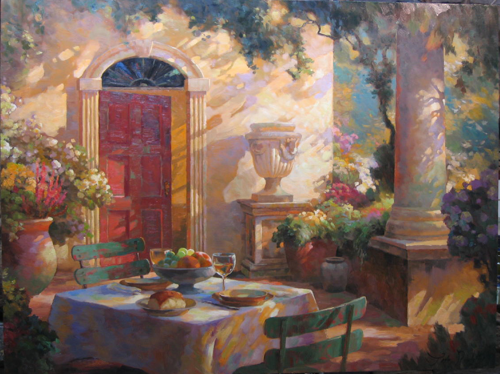 "Bellagio Afternoon 36 x 48"" original oil"
