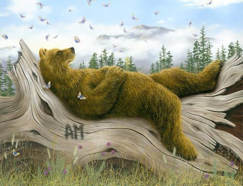 AM II whimsical bear painting by Robert Bissell