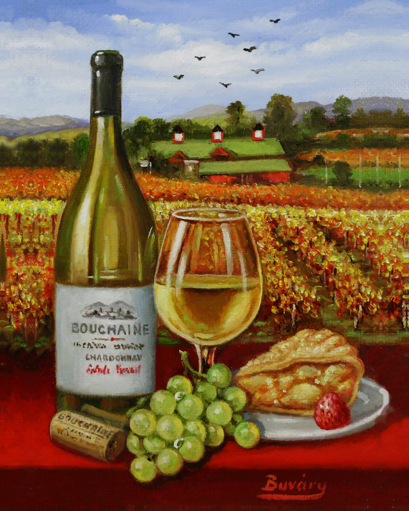 "Bouchaine Winery 7 x 5"" original"