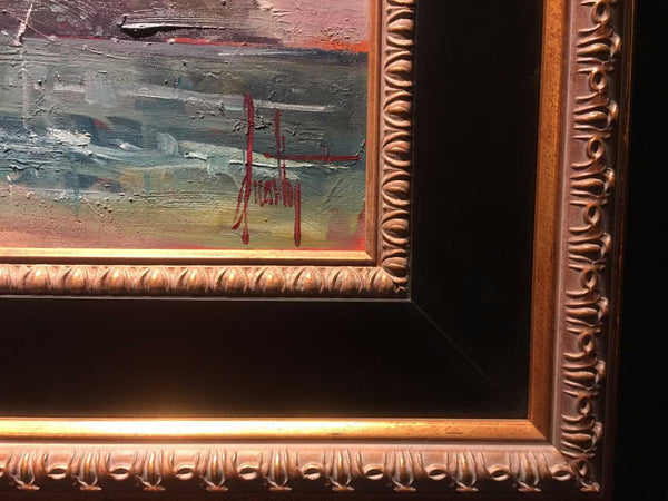 Ebony and Tuscan frame offered at Gallery 1870