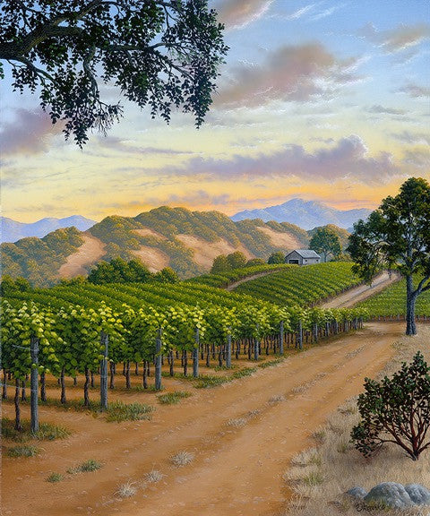 "Country Vineyard - 24x20"" original acrylic"