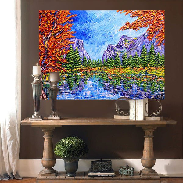 "Beautiful Autumn Colors of the Forest 36x48"" original"