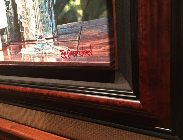 Float Framing by Gallery 1870 - Burl Wood Frame with Black Linen Liner