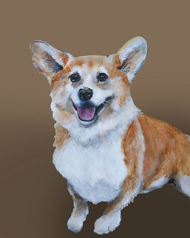 Corgi - loveable dog portrait by renowned Napa Valley artist Gail Chandler