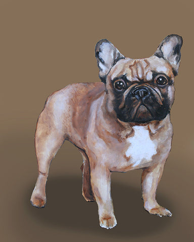 Frenchie dog portrait by renowned Napa Valley artist Gail Chandler