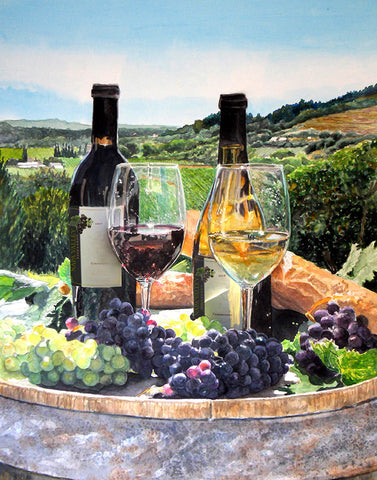 Toast of the Valley watercolor print by Gail Chandler