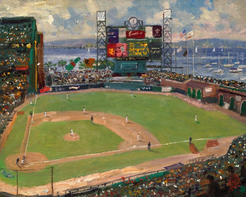 World Series National League Champions San Francisco Giants by Thomas Kinkade