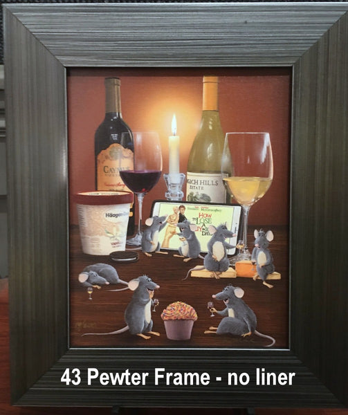 Contemporary Brushed Pewter Frame with no liner