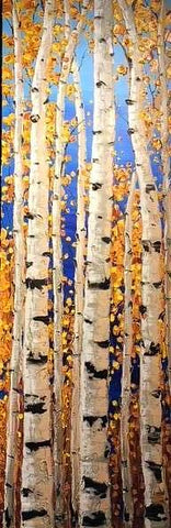 "Golden Days of Fall 60x20"" Original Acrylic"