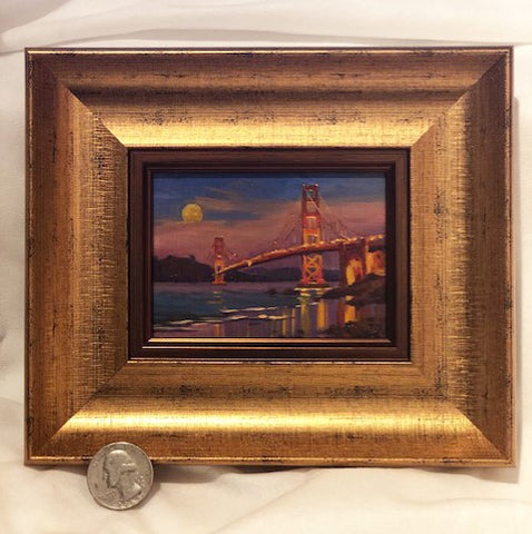 Full Moon Over the Golden Gate miniature original