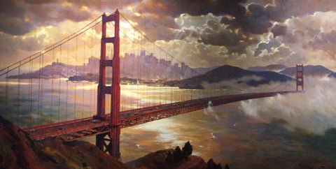 Golden Gate Splendor - Canvas Print
