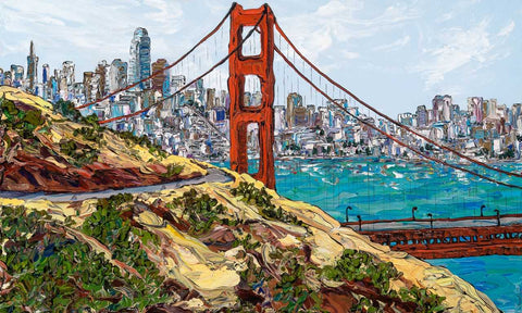 Big Golden Gate View 36x60 original acrylic by Sue Averell from Gallery 1870