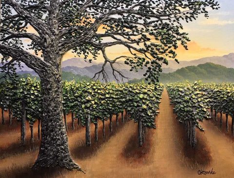 "Granduer of the Napa Valley 14x18"" Original"