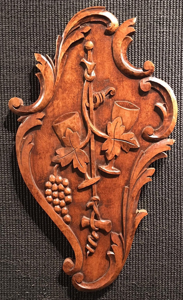 "Vin Rococo - Bordeaux 24x14"" Woodcarving"