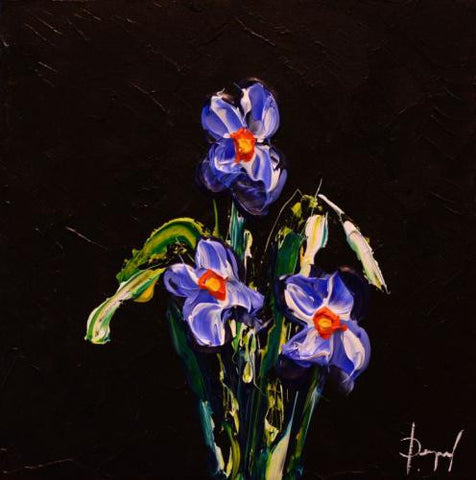 "Iris of Hope 12x12"" original acrylic by Isabelle Dupuy"
