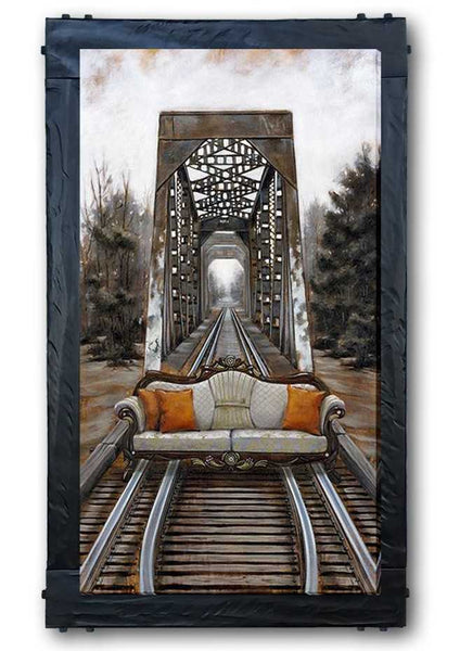 The Journey by Pete Tillack custom framed