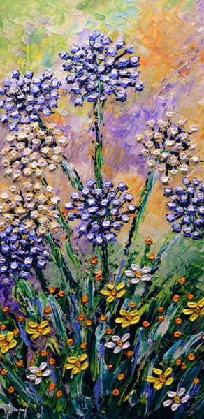 Lilies of the Nile in Flourishing Pastures Original 40x20""