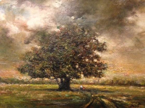 "The Majestic Oak 12 X 16"" oil on panel"