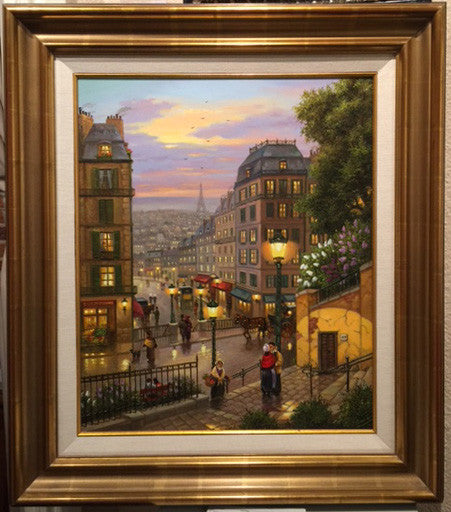 May in Paris - 24x20/32x28 Framed - Original