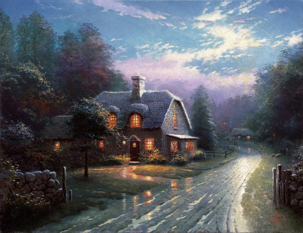 "Moonlight Lane 16x20"" limited edition canvas print"