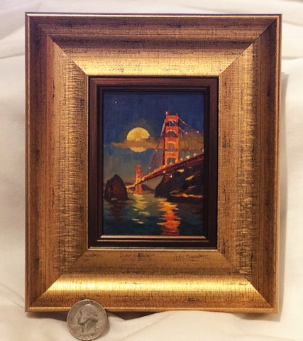 Moonlit Golden Gate miniature original