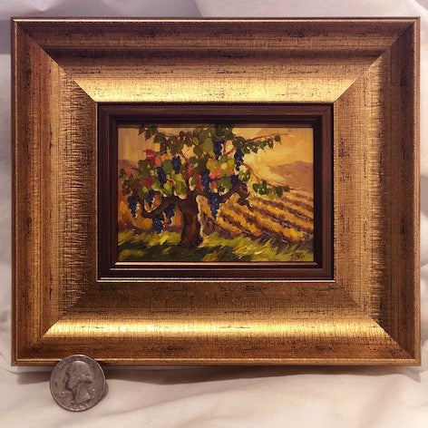 Golden Vines of the Napa Valley miniature original