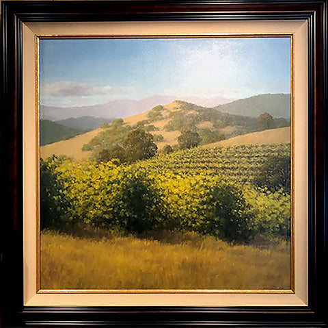 "Hillside Vineyard - 36x36"" original oil by Kathy O'Leary"