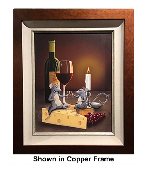 When the Cat's Away...The Mice Will Play by Patrick O'Rourke - copper frame