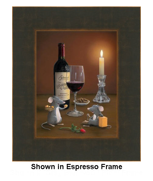 Date Night by Patrick O'Rourke in Bronze/Expresso Frame