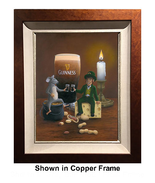 Pub Crawl by Patrick O'Rourke framed in Copper