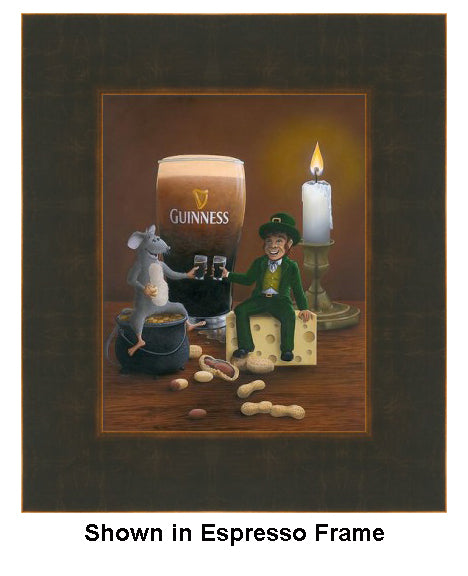 Pub Crawl by Patrick O'Rourke framed in Expresso/Bronze