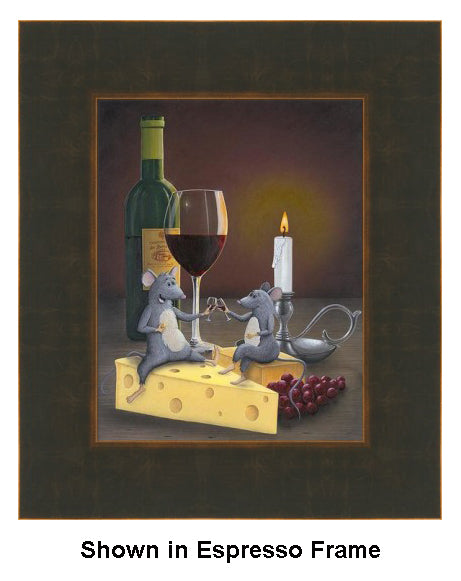 When the Cat's Away...The Mice Will Play by Patrick O'Rourke - Bronze/Expresso Frame