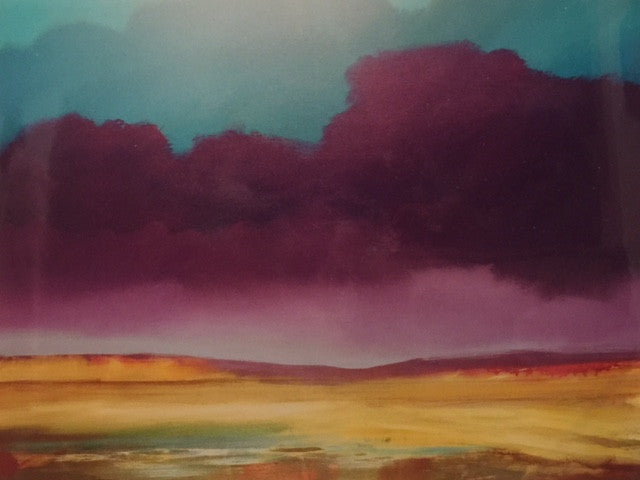 Purple Hills - Original Acrylic - 36x48""