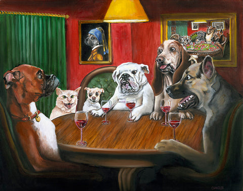 "Red is for Big Dogs - 24x30"" Original Oil on Canvas"