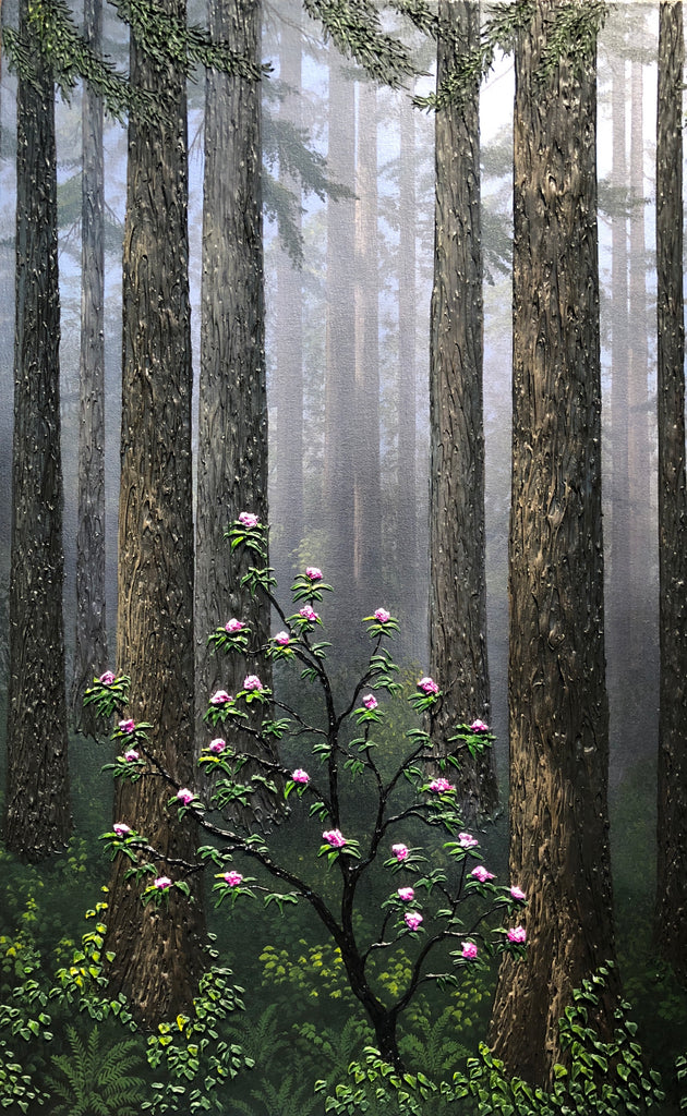 "Redwoods & Rhododendrons 30x20"" original by Patrick O'Rourke"