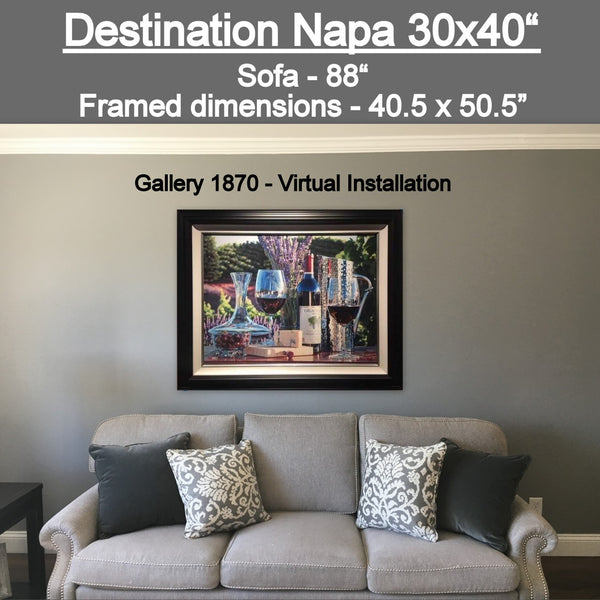 Destination Napa by Eric Christensen available at Gallery 1870 - Customer Virtual Installation