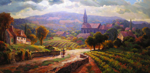 Alsace Morning - Canvas Print