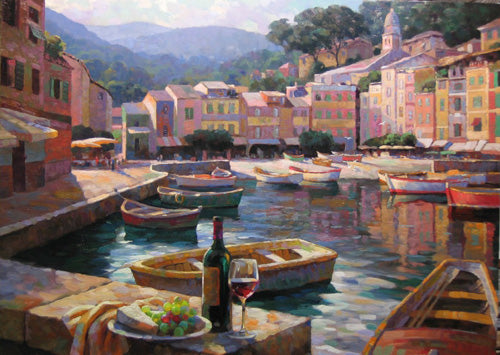Harborside at Portofino - canvas print