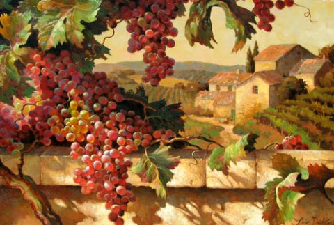Harvest Time in Tuscany by Leon Roulette available at Gallery 1870.