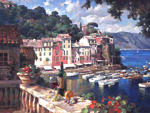 Portofino Afternoon - canvas print