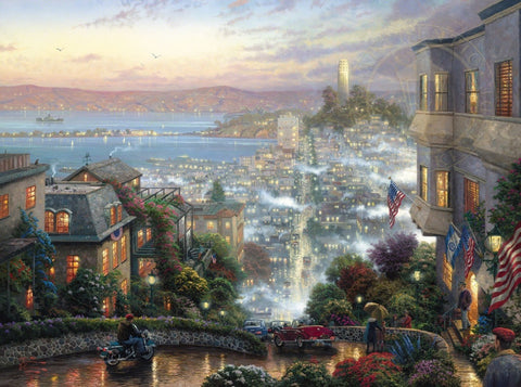 "San Francisco Lombard Street 25.5 x 34"" limited edition canvas framed"