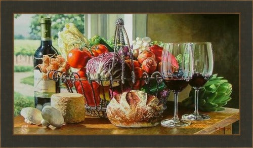 Sonoma Kitchen by Eric Christensen available at and framed by Gallery 1870