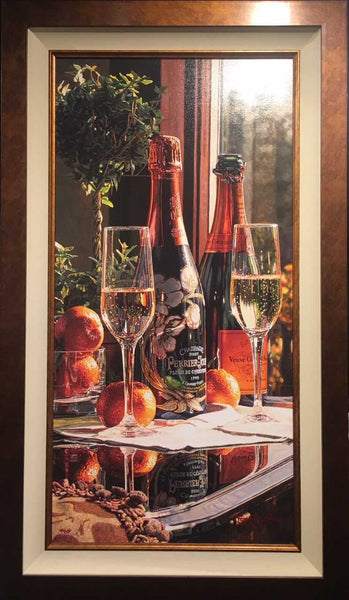 Sparkling Proposal by Watercolor Master Eric Christensen - Framed and available at Gallery 1870