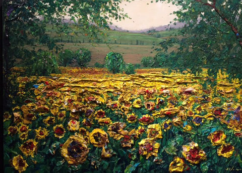 "Sunflower Farm 30x40"" Original"