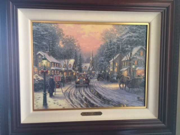 "The Season of Giving 12x16"" limited edition canvas print framed"