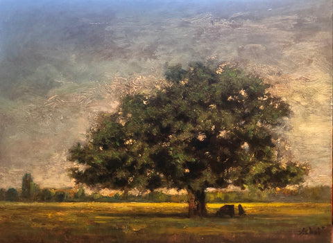"The Oak Tree 11.5 x 15"" oil on panel"