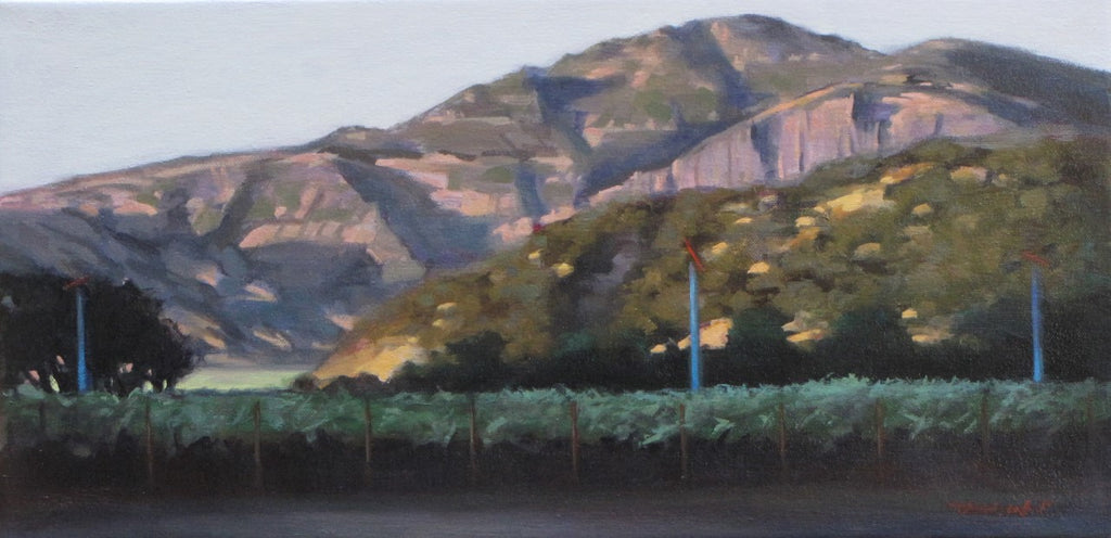 "Valley Sunset 10x20"" original oil on canvas by Takayuki Harada"