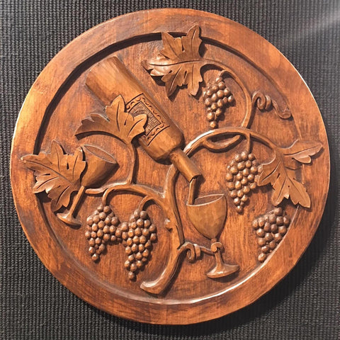 Vin Tasting Woodcarving by master woodcarver Wyckoff