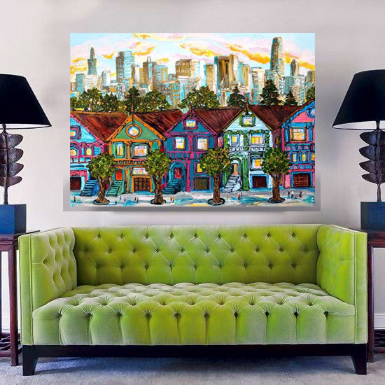 "Painted Ladies 48x60"" original"