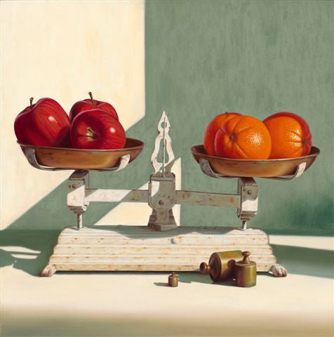 Weighing Apples & Oranges by Michael Whitlow at Gallery 1870